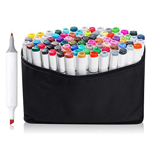 80 Set Color TOUCHNEW Alcohol Graphic Drawing Art Dual Tip Sketch Pen Art Sketch Twin Marker Pens Hand Painted Design Draft Pencil