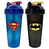 PerfectShaker Hero Series Shaker, Batman/Superman (800ml) Combo