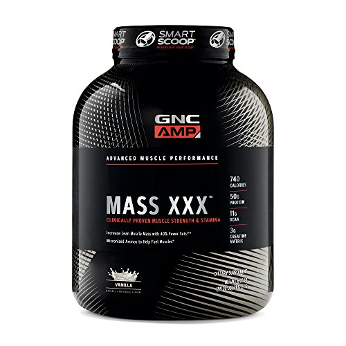 GNC AMP Mass XXX, Vanilla, 6.2 lbs, Supports Muscle Protein Synthesis
