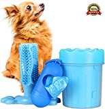 Dog Paw Cleaner and Toothbrush Toy Set | Small To Medium Sized Dogs | Upgraded Pet Care Combo | Puppy Safe, Non Toxic, Portable, Washable | Valuable Present for Dog Lovers | Added Waste Dispenser Bag