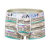 EEYAGEN Jinshi Mens Trunks Underwear Boxer Briefs Bamboo Short Boxers for Men Pack of 5 or 7 Random (SJ#338-1 Pack, US L/Tag CN XL)