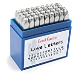 Custom Font Number and Letter Stamping Tool Case (36 Uppercase Stamps/Alphabet 0-9 & !) 1/8 inch (3mm) Letters, Numbers, Symbols - Hard Carbon Steel Tools - Stamp/Punch Metal, Jewelry, Leather, Wood