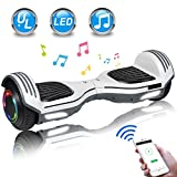 UNI-SUN 6.5' Hoverboard for Kids, Two Wheel Electric Scooter, Self Balancing Hoverboard with Bluetooth and LED...