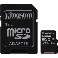Professional Kingston 128GB Huawei Ascend Mate 2 4G MicroSDXC Card with custom formatting and Standard SD Adapter! (Class 10, UHS-I)