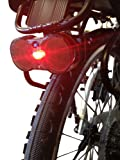 M-Wave Rear Rack Bike Light with Reflectors