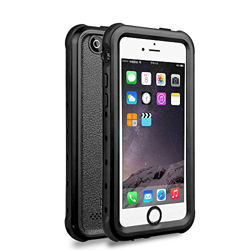 iPhone 5 5S SE Waterproof Case, IP68 Certified Waterproof Shockproof Dirtproof Snowproof Heavy Duty Protective Cover, Full Sealed Case with Built-in Screen Protector for iPhone 5 5S SE (BLACK)