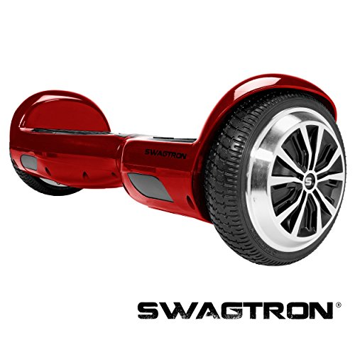SWAGTRON T1 - UL 2272 Certified Hoverboard - Electric Self-Balancing Scooter – Your swag personal transporter awaits you. (Garnet Red)