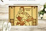 Johnny Cash Door Mat Front Door Rubber Engraved Outdoor Mat Home Decor DIY Birthday Wedding Day Anniversary Congratulations Gifts for Interior Designer Newlywed Men Women Coworker
