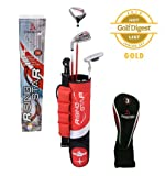 Paragon Rising Star Kids/Toddler Golf Clubs Set / Ages 3-5 Red Left-Hand
