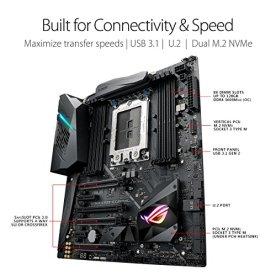 ASUS-ROG-STRIX-X399-E-GAMING-AMD-Ryzen-Threadripper-TR4-DDR4-M2-U2-X399-EATX-HEDT-Motherboard-with-onboard-80211AC-WiFi-USB-31-Gen2-and-AURA-Sync-RGB-Lighting