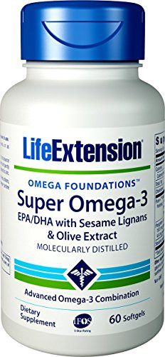 Life Extension Super Omega-3 EPA/DHA with Sesame Lignans and Olive Extract, 240 easy-to-swallow softgels