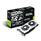 ASUS Geforce Dual GTX 1050 Ti 4GB Dual-Fan Edition DVI-D HDMI DP 1.4 Gaming Graphics Card (DUAL-GTX1050TI-4G) Graphic Cards