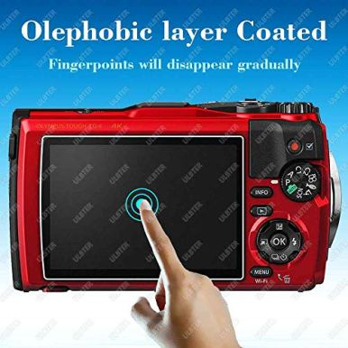 TG-6-Screen-Protector-Appliable-for-Olympus-TG-6-Waterproof-Camera-Red-BlackULBTER-03mm-9H-Hardness-Tempered-Glass-Screen-Cover-Anti-Scrach-Anti-Fingerprint-Anti-Water-Anti-Dust-3-Pack