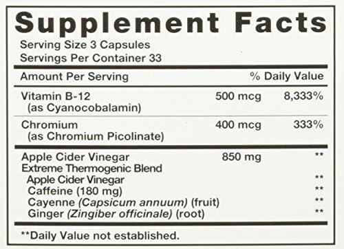 AppleLeanTM Cider Vinegar Diet Complex Supplement, 124 Count 4
