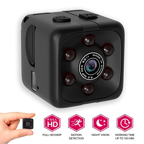 M MORVELLI [NEWEST 2018 UPGRADED Hidden Spy Camera 1080p for Home – Mini FullHD Small Advanced Security Motion Spy Cam with Night Vision and Audio with Mounts – No Wifi
