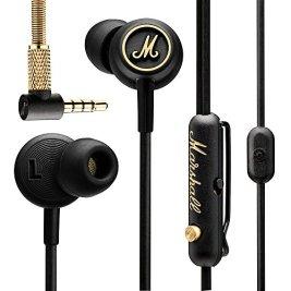 Marshall Mode EQ In-Ear Headphones, Black/Brass (4090940)