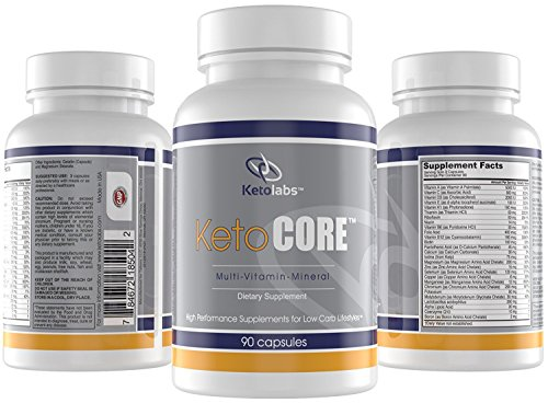 Ketolabs Keto Core Daily Multivitamin with Minerals & Probiotics - Multivitamins Supplement for Low Carb, Atkins, Paleo, Ketogenic, Keto Weight-Loss Diets - 90 Capsules -100% Money Back Guarantee
