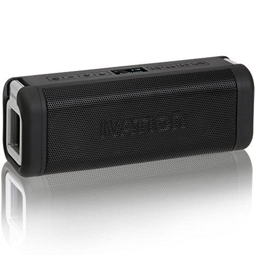Portable Waterproof Bluetooth Speakers w/FM Radio & LCD Display, IPX7 Water Resistant & Shockproof - Ultimate Wireless Handfree Rechargeable Shower Speakerphone