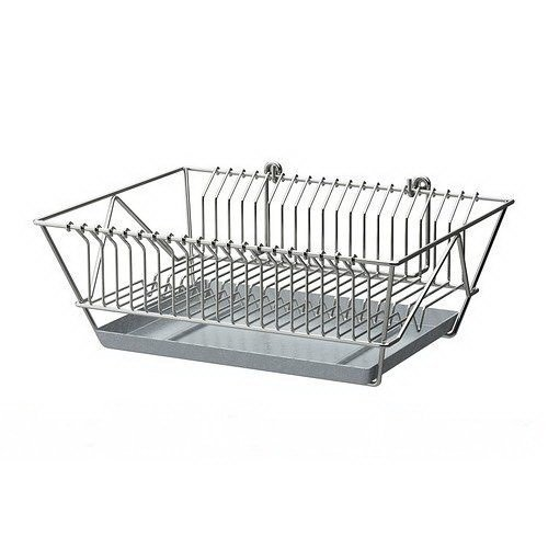 Dish Drainer Dryer Holder Rack Removable Tray Brand New Fintorp