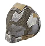 Airsoft Mask Full Face Mask War Game Steel Mesh Protective Mask Camouflage 2