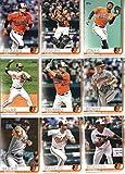 2019 Topps Series 1 Baseball Baltimore Orioles Team Set of 12 Cards: Adam Jones(#8), Caleb Joseph(#17), Joey Rickard(#35), Jonathan Villar(#88), Mark Trumbo(#131), Richard Bleier(#207), Dylan Bundy(#233), Trey Mancini(#240), Tim Beckham(#282), Cedric Mullins(#318), Mychal Givens(#337), Andrew Cashner(#338)