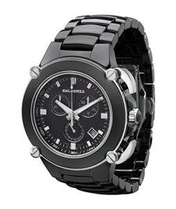CALABRIA - Sottomarino Collection - ABISSO - Hi-Tech Ceramic and Silver Tone Chronograph Men's Watch