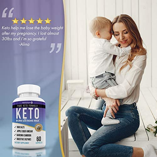 Keto Burn Extreme Max Fat Burner Diet Pills- Ketogenic Weight Loss for Women and Men- Ketosis Supplement with BHB Salts & Apple Cider Vinegar- 30 Day Supply 9