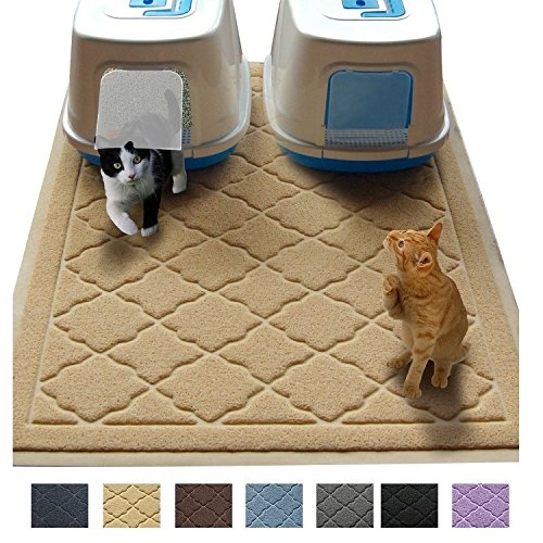 """Jumbo Litter Mat 47"""" x 36"""" Cat Litter Mat - Traps Messes, Easy Clean, Durable, Phthalate Free, Litter Box Mat with Scatter Control - Soft on Kitty Paws"""