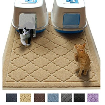 "Jumbo Litter Mat 47"" x 36"" Cat Litter Mat - Traps Messes, Easy Clean, Durable, Phthalate Free, Litter Box Mat with Scatter Control - Soft on Kitty Paws"