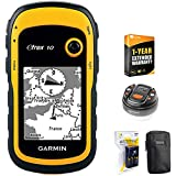 Garmin eTrex 10 Worldwide Handheld GPS Navigator (010-00970-00)+ LED Brite-Nite Dome Lantern Flashlight + Carrying Case + 4X Rechargeable AA Batteries w/Charger + 1 Year Extended Warranty