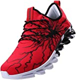 BRONAX Mens Fashion Sneakers Slip on Lightweight Street Trending Stylish Lace up Casual Walking Athletic Sport Shoes for Men Sapatos Tenis para Correr de Hombre Red Size 12