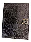 Handmadecraft Large Tree of Life Leather Journal Diary Notebook for Writing Leather Diary Handmade Leather Journal