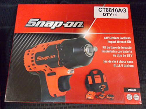 Snap-On 18V Lithium Cordless Impact Wrench Kit, 3/8 Drive, This set is Orange