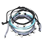 Coin Anklet Pack Waterproof Boho Anklet Handmade Rope Ankle Bracelet Bead Surfer Beach Foot Jewelry for Women