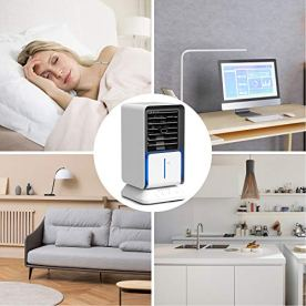 KLOUDI-Portable-Air-Conditioner-Fan-Personal-Oscillating-Air-Cooler-Desk-Fan-Evaporative-Cool-Mist-Humidifiers-Air-Circulator-with-2H4H6H-Timer-Perfect-for-Bedroom-Office-Home