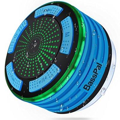 Basspal doccia altoparlante, IPX7impermeabile portatile wireless Bluetooth altoparlanti 4.0con super bass e HD Sound speaker, perfetto per spiaggia, piscina, cucina e casa (blu)