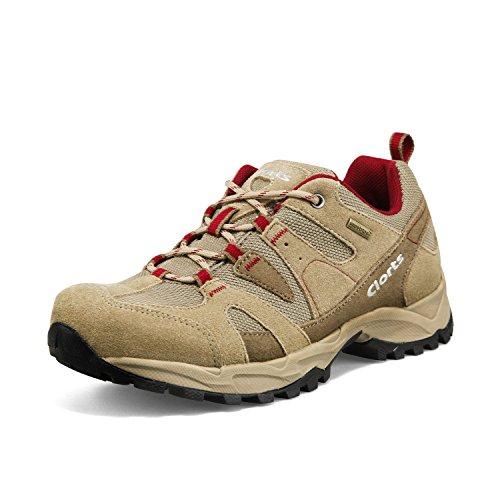 Clorts Women's Suede Hiking Shoe Waterproof Trail Shoe Brown HKL-828C US7