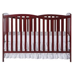Dream On Me Chelsea 7-in-1 Convertible Crib, Cherry