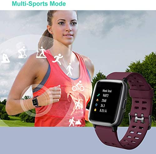 Willful Smart Watch for Android Phones Compatible iPhone Samsung IP68 Swimming Waterproof Smartwatch Sports Watch Fitness Tracker Heart Rate Monitor Digital Watch Smart Watches for Men Women Purple 5