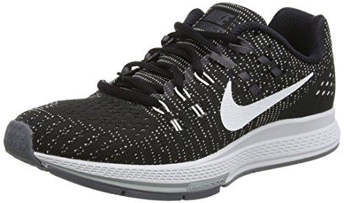 Nike Womens Air Zoom Structure 19 Running Shoe, Black/White-Dark Grey, 8