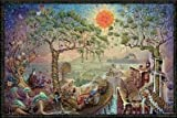 Sunshine Daydream by Michael DuBois 36x24 Fantasy Art Print Poster Wall Decor Gnomes Mushrooms