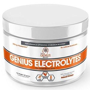 Genius Electrolyte Powder – Natural Hydration Booster | Endurance Supplement with Electrolytes (Potassium, Magnesium, Zinc) – Sugar Free, Vegan, Keto Friendly Energy – Orange Fizz (Drink Mix), 30 Sv