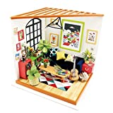 ROBOTIME DIY Dollhouse Kit - Sitting Room Miniature - Bestseller Popular Gift for Boy and Girls