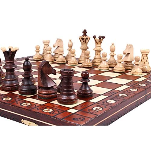 The Jarilo - Unique Wood Chess Set, Pieces, Chessboard & Storage