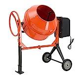 SUNCOO 4/5HP Electric Concrete Cement Mixer 5 Cu Ft Mortar Mixing Stucco Seeds Portable Barrow Machine