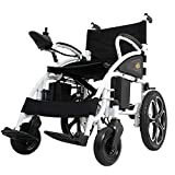 2019 New Electric Wheelchairs FDA Approved Transport Friendly Lightweight Folding Electric Wheelchair for Adults (Black)