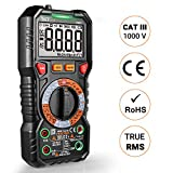 Digital Multimeter TRMS 6000 Counts, LED Intelligent Socket, Manul Ranging Measuring AC/DC Voltage, AC/DC Current, Resistance,Capacitance,Frequency/Duty, Diode test, Continuity test TACKLIFE DM05