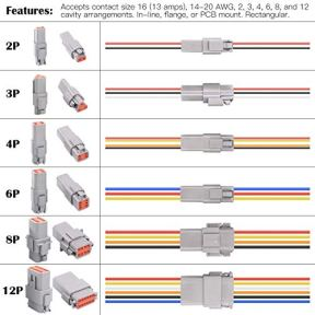 Glarks-30Pcs-2-Pin-Way-Sealed-Gray-Male-and-Female-Auto-Waterproof-Electrical-Wire-Connector-Plug-22-16AWG-Connector-for-Motorcycle-Scooter-Car-Truck-Boats