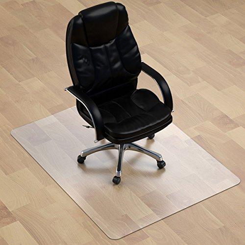 Thickest Hard Floor Chair Mat - 1/8' Thick 47' X 35' Rectangular Heavy Duty Chair Mat for Hardwood Floor, Anti Slip PVC Multi Purpose (Office, Home) Floor Protector