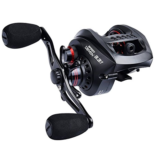 KastKing Speed Demon 9.3:1 Baitcasting Fishing Reel – World's Fastest Baitcaster – 12+1 Shielded Ball Bearings – Carbon Fiber Drag
